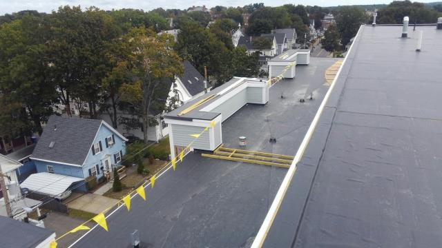 New construction fully adhered EPDM roof